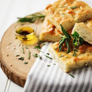 gluten free focaccia and oil