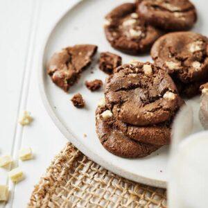 gluten free tuxedo cookies