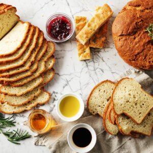 gluten free rustic rosemary bread